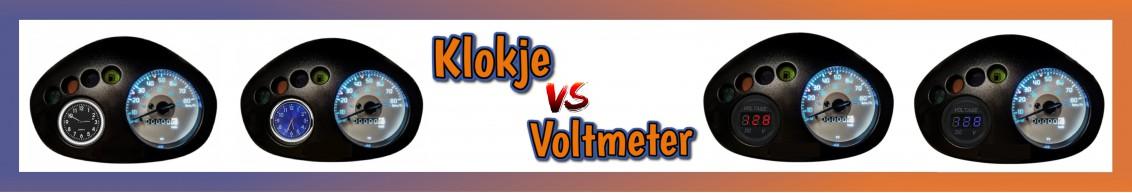 Dashboard-klokje vs Voltmeter