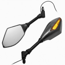 Carbon LED spiegels Piaggio Zip