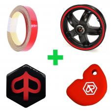 Piaggio Zip - Rood pakket