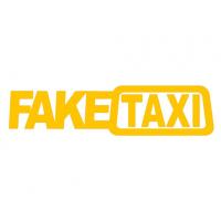 FakeTaxi sticker geel