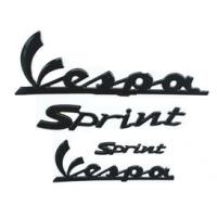 Vespa Sprint embleem set zwart