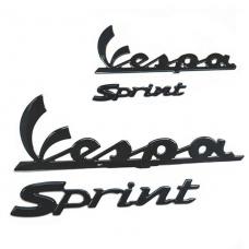 Vespa Sprint stickerset zwart
