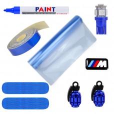 Blauw accessoires pakket